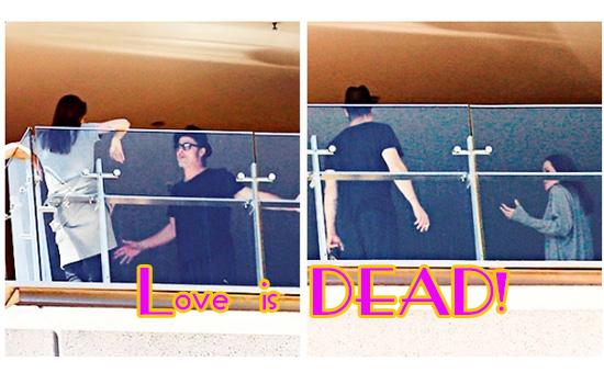 Ange y Brad peleando en un balcón en Australia!