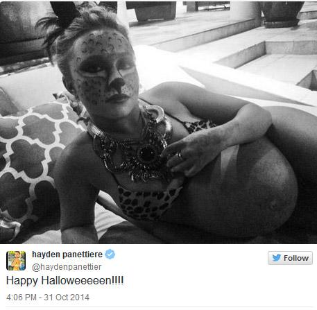 Hayden Panettiere aumentó 18 kilos en su embarazo