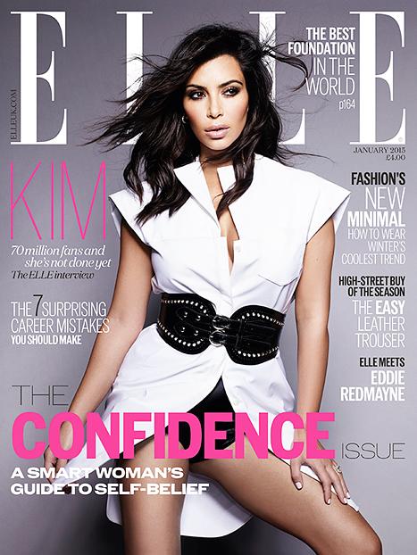 Kim Kardashian: Elle UK Edición Confidence