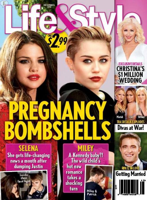 Selena Gomez y Miley Cyrus: Embarazadas? [Chismes de Life&Style]