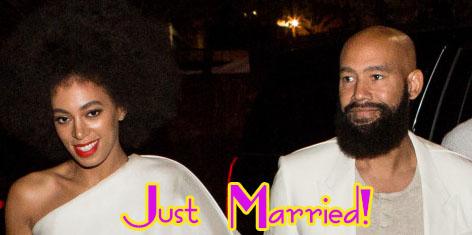 La hermana de Beyonce, Solange se casó con Alan Fergunson