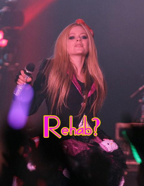 Avril Lavigne en rehab?