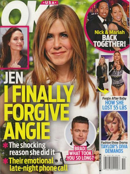 Jennifer Aniston finalmente perdona a Angelina Jolie!! [OK!]