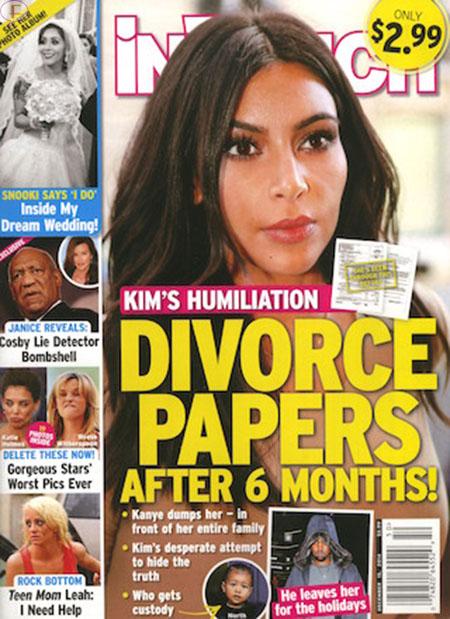 Kim K Humillada: Papeles de divorcio! [InTouch]