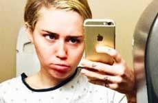 Miley hospitalizada con corte en su muñeca…