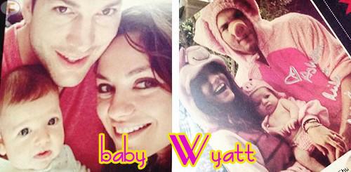 Awww... Baby Wyatt, la hijita de Ashton y Mila! Cute!