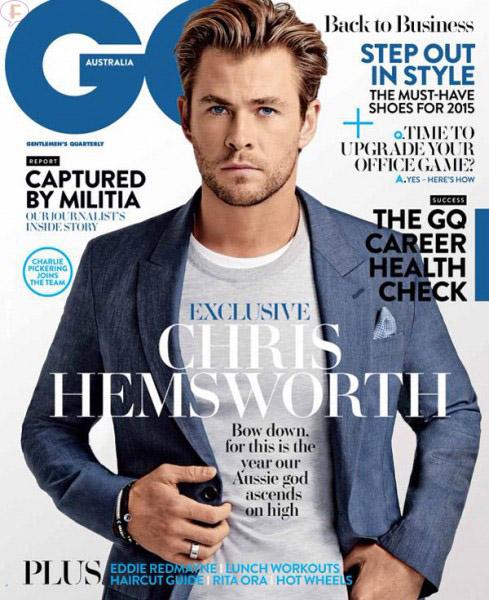 Chris Hemsworth habla de Hollywood en GQ Australia