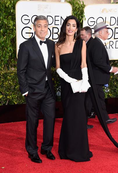 George Clooney llevó su traje de bodas en los Golden Globes