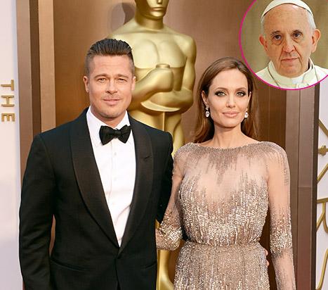 Brad Pitt & Angelina Jolie conocerán al Papa Francisco
