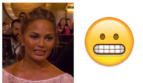 Catherine Zeta Jones parecía emoji en los Golden Globes