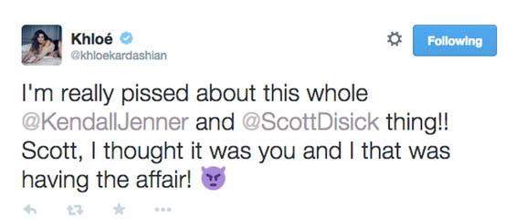 Khloe Kardashian celosa del romance de Kendall y Scott