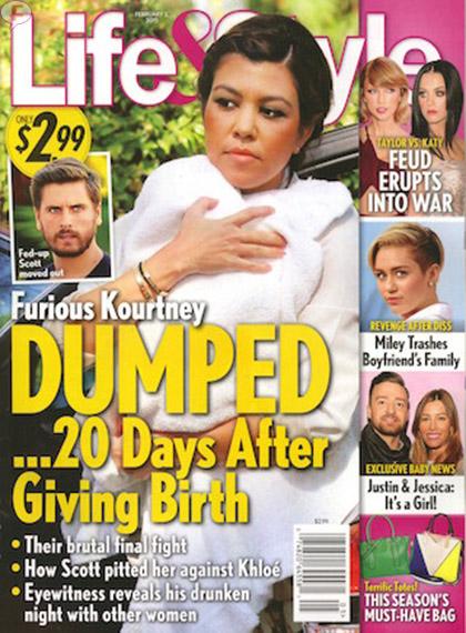 Kourtney Kardashian abandonada 20 dias despues de dar a luz