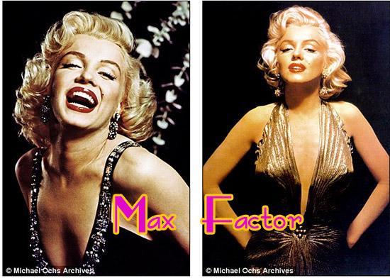 Marilyn Monroe imagen Max factor