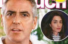 George Clooney dejó a Amal en su cumpleaños [InTouch]