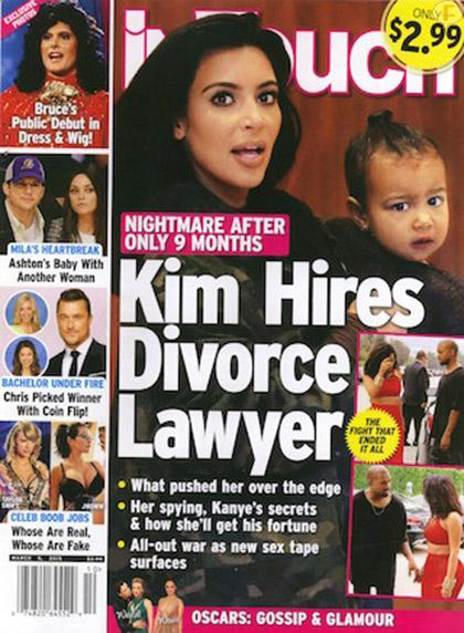Kim K contrata abogado de divorcio [InTouch]