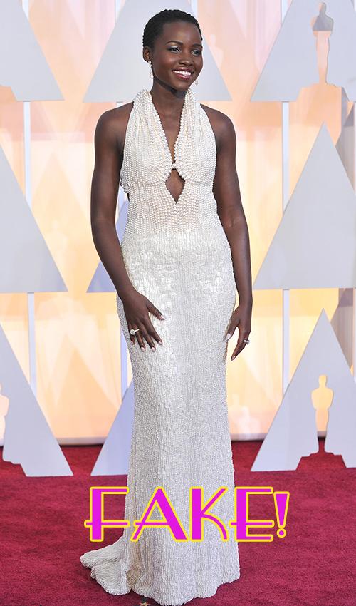Devuelven el vestido de perlas de Lupita Nyong'o