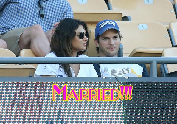 Mila Kunis revela que se casó con Ashton Kutcher!!