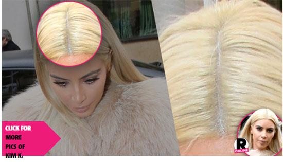 El nuevo look rubio platinado de Kim K es una peluca?