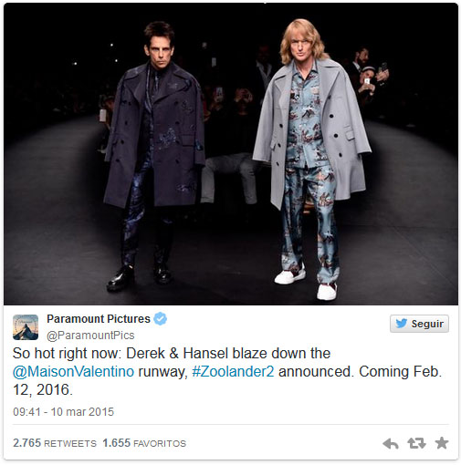 Zoolander is back!! Paris Fashion Week!