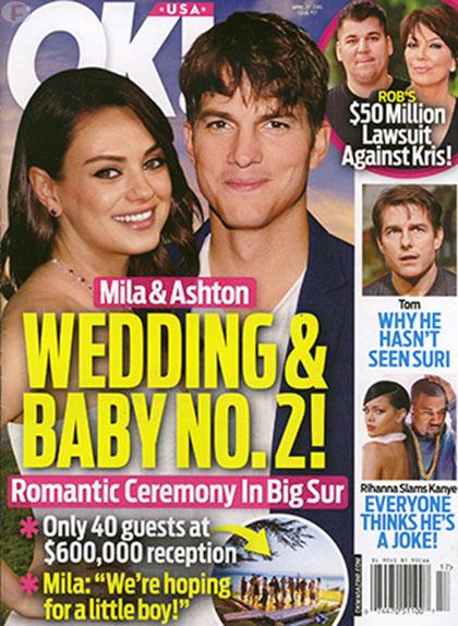 Mila Kunis & Ashton Kutcher: Boda y Baby 2