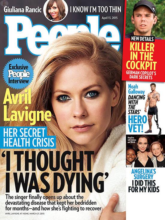 Avril Lavigne tiene la enfermedad de Lyme