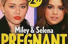 Miley & Selena embarazadas del mismo hombre!