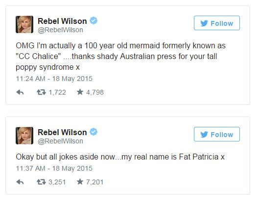 Rebel Wilson mintió sobre su edad?