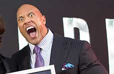 Dwayne Johnson The Rock record Guinness de Selfies