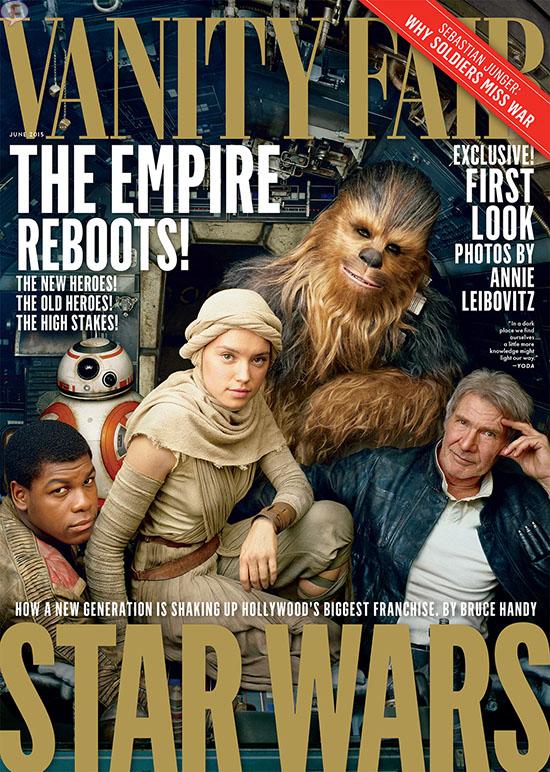 Harrison Ford y Chewbacca Star Wars en Vanity Fair