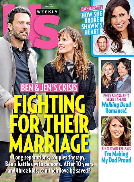 Ben Affleck y Jennifer Garner luchan por su matrimonio [Us]