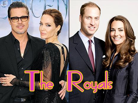 Brad y Angelina Jolie se reunen con Príncipe William y Kate Middleton