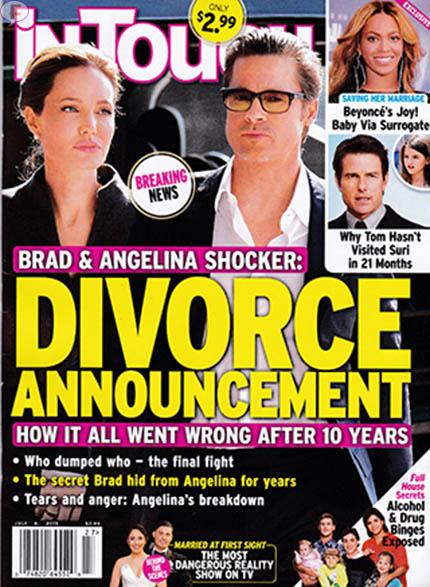 OMG!! Brad Pitt y Angelina Jolie se divorcian! [InTouch]