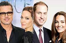 Brad y Angelina Jolie se reunen con Príncipe William y Kate Middleton