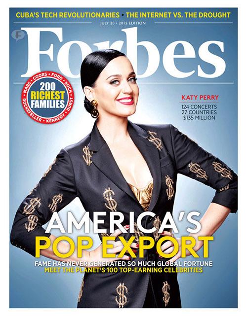 Katy Perry es la artista mejor pagada del 2015 - Forbes