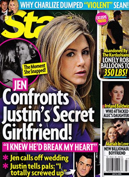 Jennifer Aniston enfrenta a la novia secreta de Justin Theroux [Star]