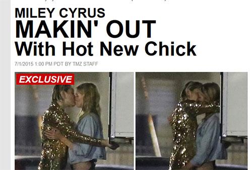 Miley Cyrus besando a una chica - Stella Maxwell