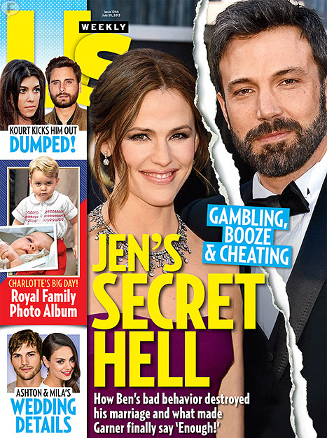 Ben Affleck fue infiel a Jennifer Garner [Us]