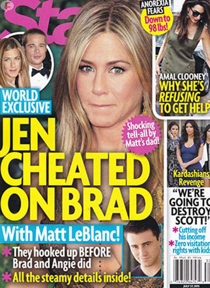Jennifer Aniston le fue infiel a Brad con Matt LeBlanc! WTF? [Star]