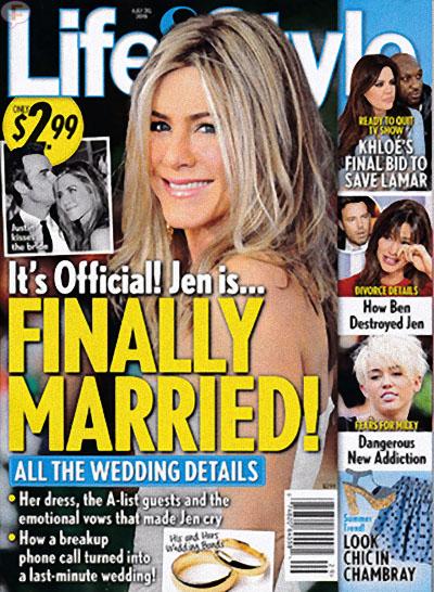 FINALLY!!! Jennifer Aniston casada!! [Life&Style]