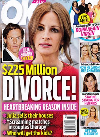 Julia Roberts: Divorcio de 5 millones [OK!]