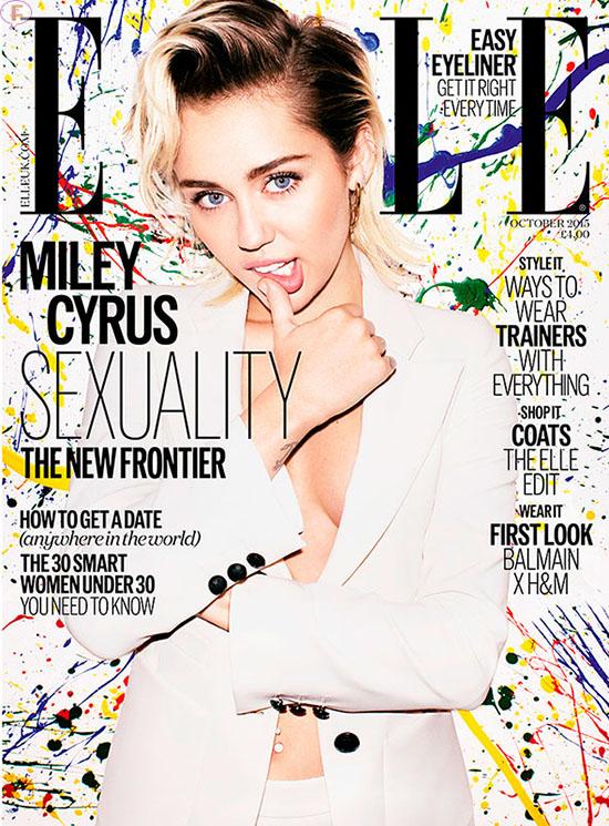 Miley Cyrus está soltera y es pansexual [Elle UK]