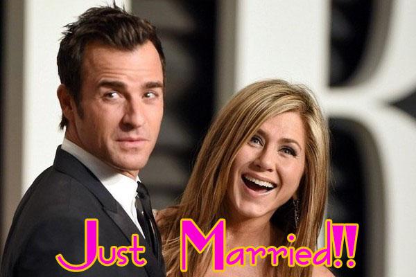 Jennifer Aniston y Justin Theroux se casaron!!!