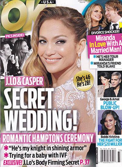 JLo y Casper Smart: boda secreta! [OK!]