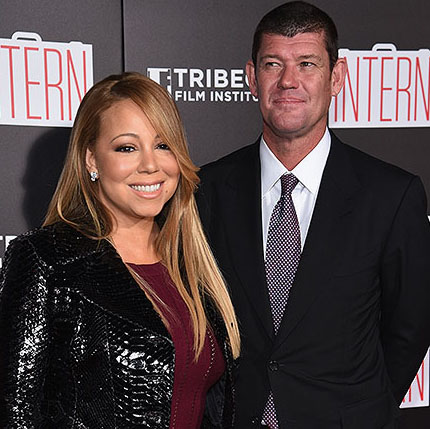 Mariah Carey y novio debutan en la red carpet