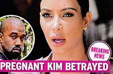 Kim Embarazada traicionada – Kimye se separa! [Intouch]