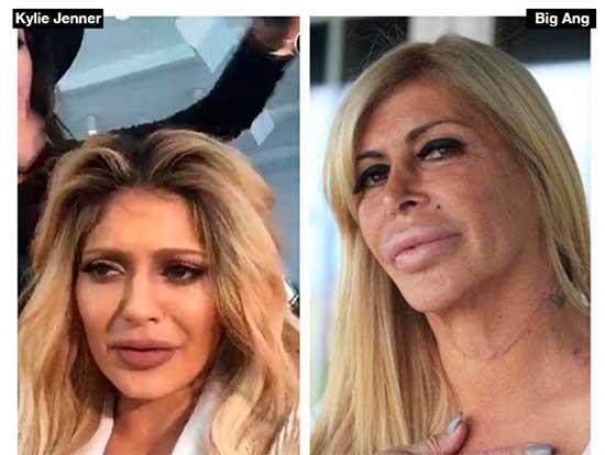 Kylie Jenner idéntica a Big Ang de 'Esposas de la Mafia'