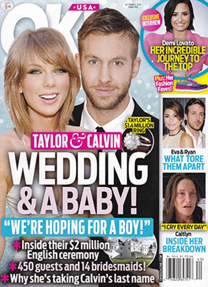 Taylor Swift & Calvin Harris: Boda y baby! [OK!]