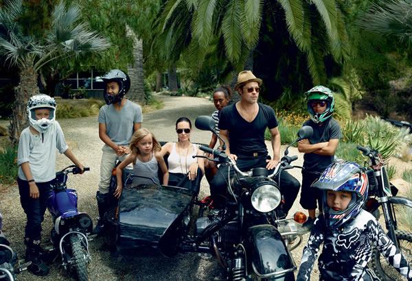 Angelina Jolie (y su familia) en Vogue