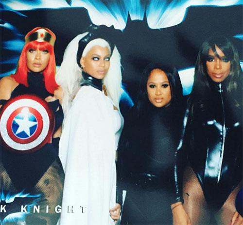 Beyonce disfrazada de Tormenta (Storm X-Men)