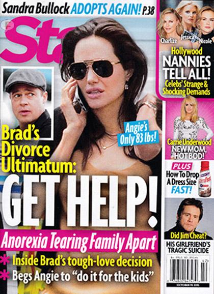 Brad amenaza a Angelina con divorciarse: GET HELP! [Star]